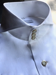 MorCouture White Cutaway Collar Shirt Deluxe
