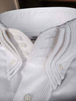 MorCouture White Triple High Collar Shirt (limited edition)