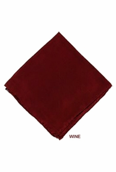MorCouture Wine 17 x 17 Silk Pocket Hanky