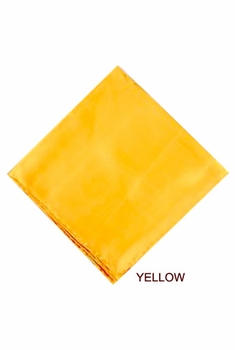 MorCouture Yellow 17 x 17 Silk Pocket Hanky