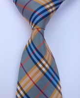 Multi Color Check Silk Necktie