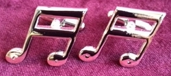 Music Note#1 Cufflinks (silver)