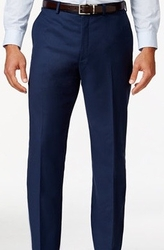 Navy Modern Fit Flat Front Pants