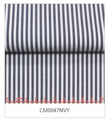 Navy Striped Tab Collar Shirt -Custom order