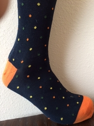 Orange Dot Pattern Socks
