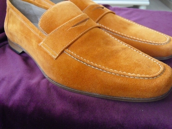 Orange Suede Slipons size 11.5