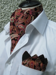 Paisley Frenzy Ascot w/matching Hanky (Excalibur Edition)