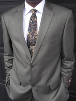 Blowout Sale -Pewter 2 button suit Size 42R