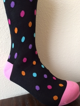 Pink Dot Pattern Socks