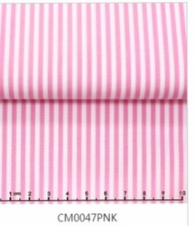 Pink Striped Tab Collar Shirt -Custom order
