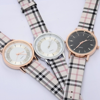 Plaid Strap Watches