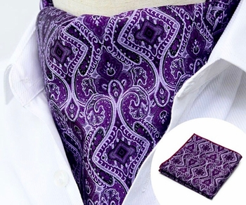 Backordered---Purple Pizazz Ascot w/Hanky