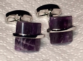 Purple Stone Cufflinks