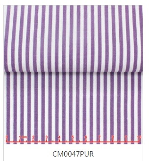 Purple Striped Tab Collar Shirt -Custom order