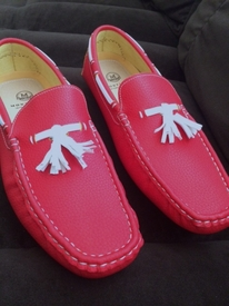 Red Driving Shoe