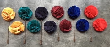 Ruffle Lapel Pins (6 colors)
