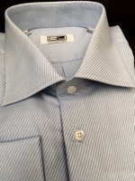 Sky Blue Twill Spread Collar Shirt size17.5(36/37)