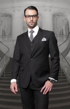 Statement Black 3pc Suit