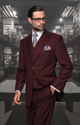 Statement Burgundy 3pc Suit (Special Order)