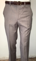 Tan Modern Fit Flat Front Pants