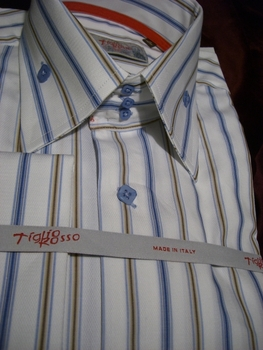 Tiglio Multistripe High Collar Shirt