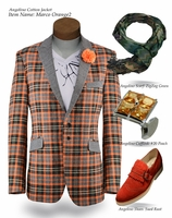 Angelino Marco2 Orange Blazer