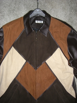 (View#2)Missani Leather/Suede  Jacket size XL (fits 44 - 46)