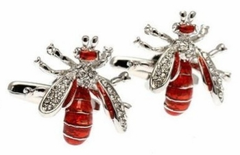 Red Wasp Gem Cufflinks