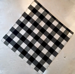 MorCouture White Black Check Pocket Hanky