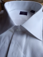 White Cotton Woven Dress Shirt 17.5 36/37