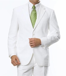 White Seersucker 2Piece Suit