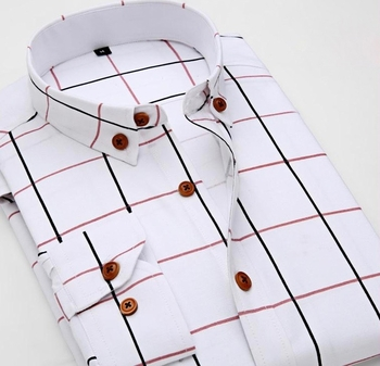 White Windowpane Dress Shirt (slimfit)