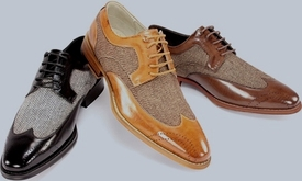 Wing-Tip and Tweed Shoes