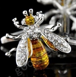 Yellow Bee Gem Cufflinks