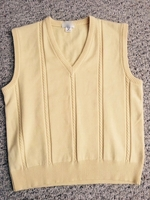 Yellow Cable Knit Sweater Vest size M
