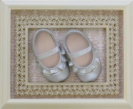 Baby Deer Infant Girls Shoes in Silver (1i)