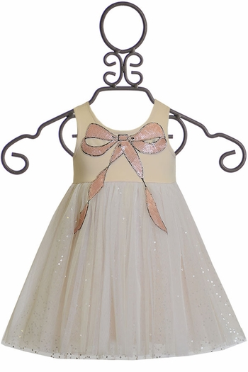 Baby Sara Sequin Bow Tulle Dress (SOLD OUT)