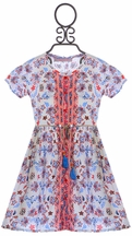 Bela & Nuni Dress for Girls with Belt (Size 10)
