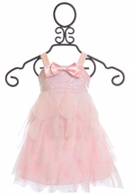 Biscotti Girl Pink Dress with Sequins (Size 12Mos)
