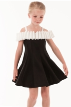 Biscotti Black and Ivory Party Dress (Size 6X)
