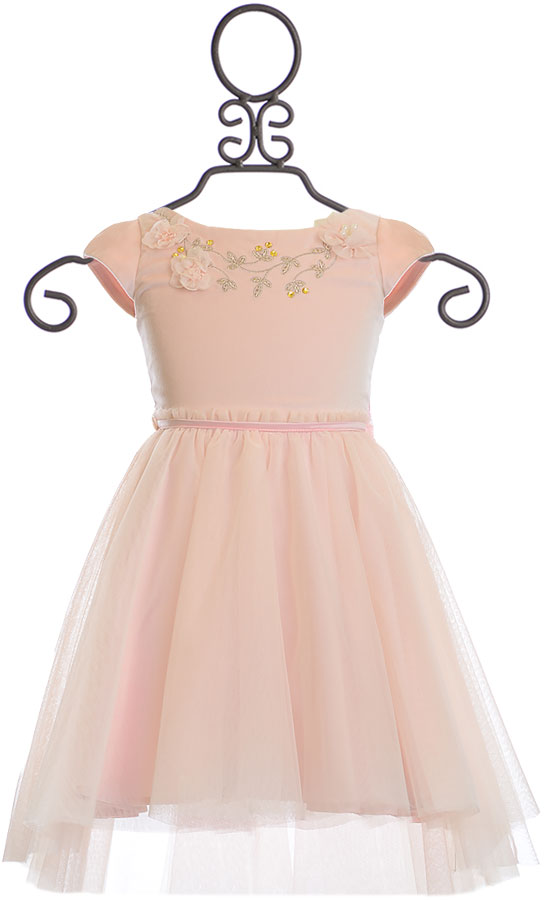Biscotti Girls Designer Dress in Blush (2T & 3T)