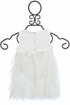 Biscotti Party Petals Ruffle Dress Ivory (12Mos & 24Mos) Alternate View