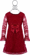 Biscotti Red Lace Dress Holiday (Size 5)