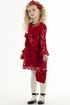 Biscotti Red Lace Dress Holiday SOLD OUT Alternate View