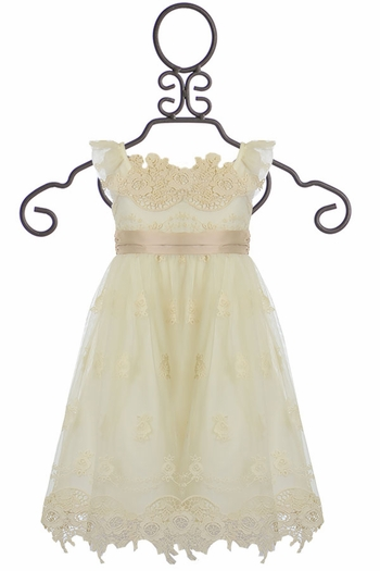 Biscotti Vintage Lace Dress Ivory (12Mos,3T,5,6,6X)