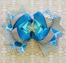 Bratti Mati Elsa Blue Boutique Hair Bow