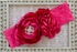 Bright Pink Headband for Girls by LaBella Flora Alternate View