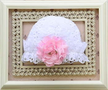 Cach Cach Baby Cap in White Eyelet SOLD OUT