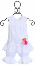 Cach Cach Top and Bloomer Set in White