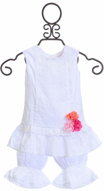 Cach Cach Top and Bloomer Set in White SOLD OUT
